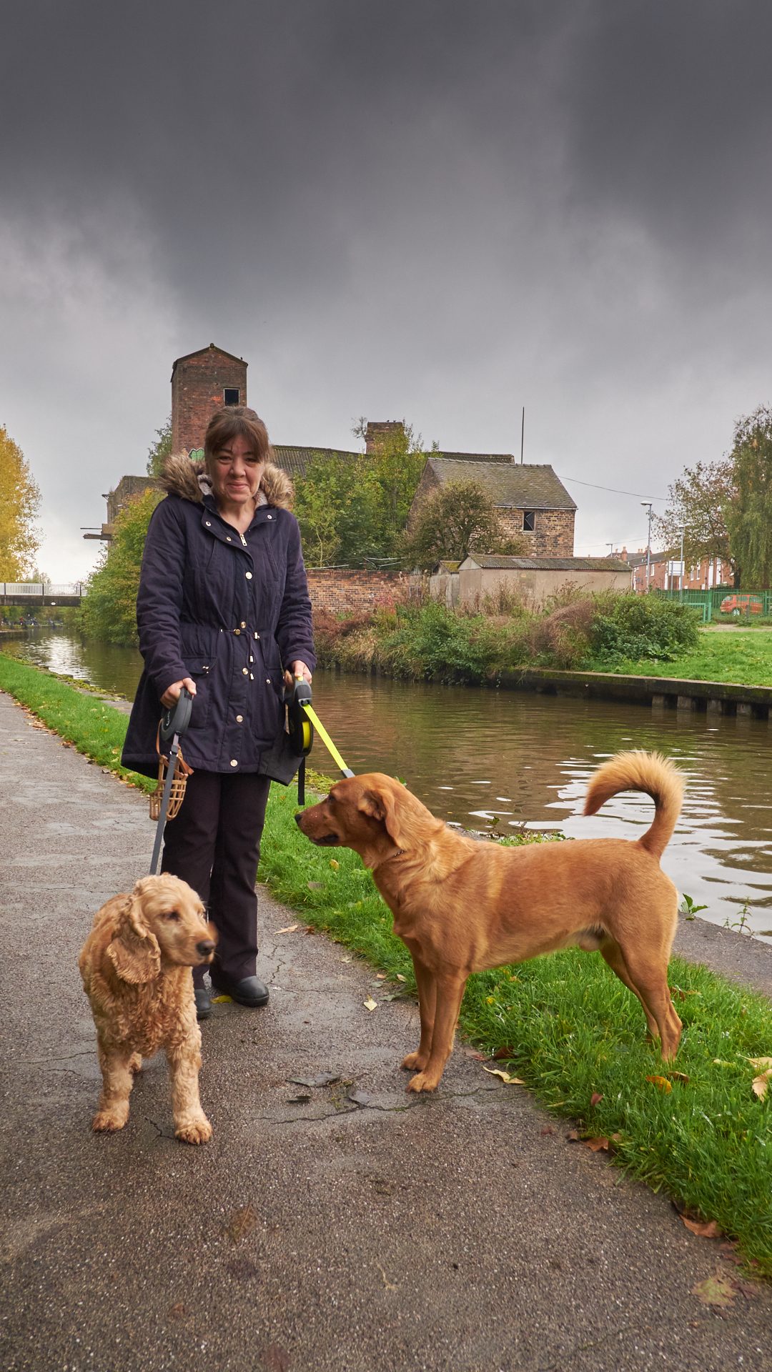 Trent and Mersey Canal, Middleport - Oct 2017 - Jenny and her dogs